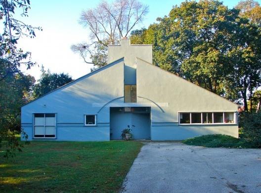 Casa projetada por Robert Venturi <br />Foto Smallbones  [Wikimedia Commons]