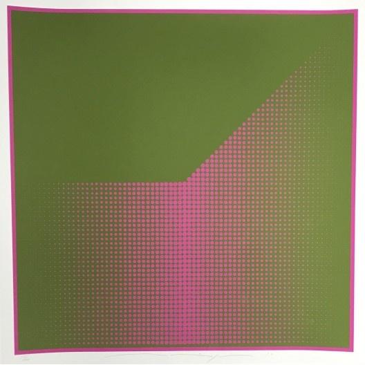 Almir Mavignier, <i>Sem título, da série Puncton – Grün-Violett</i>, 1976, serigrafia sobre PVC<br />Imagem divulgação
