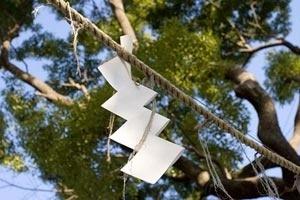 Fig. 3 – Guirlanda de papel criada no santuário de Hie, Tóquio<br />Foto Tom Boechat, 2006