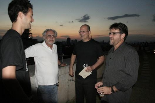 Julio Mariutti, José Magalhães Jr., Abilio Guerra e Angelo Arruda (presidente FNA)<br />Foto Thomas Bussius