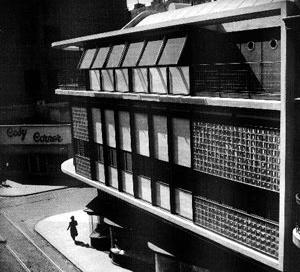 O edifício à rua Suipacha em seu estado original [ÁLVAREZ, Fernando [et al.]. Antoni Bonet Castellana (1913-1989), p.75]