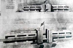 """Projeto escola da Diretoria de Obras Públicas [""""Folha do Norte"""" (1939)]"""