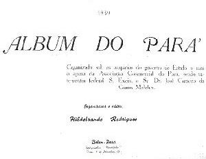 """Página inicial do """"Álbum do Pará""""<br />null  [null]"""