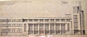 Projeto do Edifício da agência de Correios e Telégrafos, elevação [EBCT]