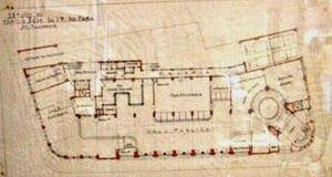 Projeto do Edifício da agência de Correios e Telégrafos, planta [EBCT]