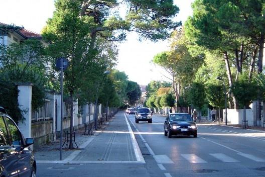 O verde na cidade moderna dos anos 90.<br />Foto M. Bocci
