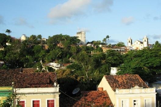 Alto da Sé visto do Mercado da Ribeira, Olinda<br />Foto Eliane Lordello