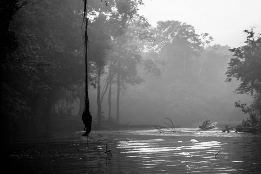 Presença humana na floresta amazônica<br />Foto Djalma Armelin  [Wikimedia Commons]