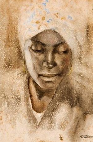 Benedito José Tobias, Retrato de Mulher, c. 1930-1940 (Aquarela sobre cartão) Associação Museu Afro Brasil