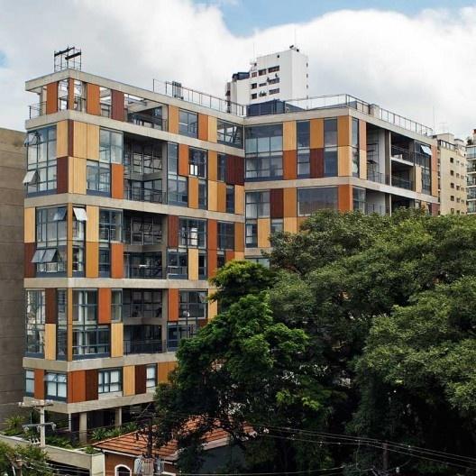 Edifício Fidalga 722, Vila Madalena, São Paulo. Escritório Andrade & Morettin<br />Foto Nelson Kon