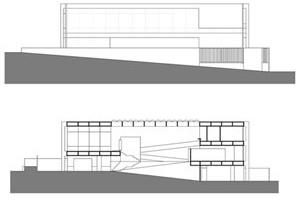 Casa Jorge Edney Atalla, V. Artigas, 1971, São Paulo, não construído [Desenho a partir de material encontrado no Arquivo V. Artigas / FAU-USP]