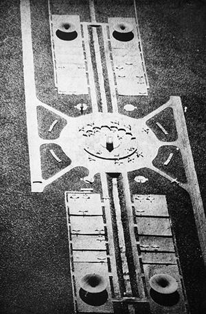 Aeroporto Supersônico de Brasilia. Arquiteto Sérgio Bernardes, 1958 [Acervo Família Sérgio Bernardes]