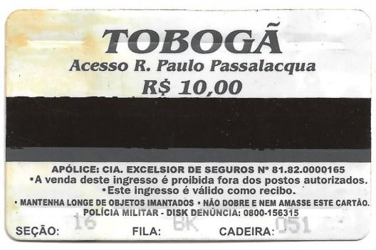 Ingresso para o Tobogã do Pacaembu<br />Imagem divulgação  [Acervo do autor]
