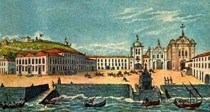 Vista do paço Imperial do Rio de Janeiro, em 1808