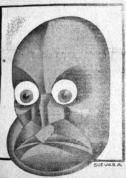 """Andrés Guevara: """"<i>Mussolini</i>"""", aparecida en  """"El Liberal"""", 25-06-1932<br />Diario El País, Asunción, 1932, reproducida por cortesía de la Biblioteca Nacional"""