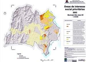Figura 5 – Mapa das áreas de interesse social prioritárias para São José – SC (5)