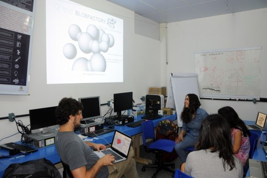 XIX Sigradi Florianópolis 2015, workshop Blob Architecture, professores Daniel Lenz e Clarissa Ribeiro<br />Foto Katielen Bissolotti