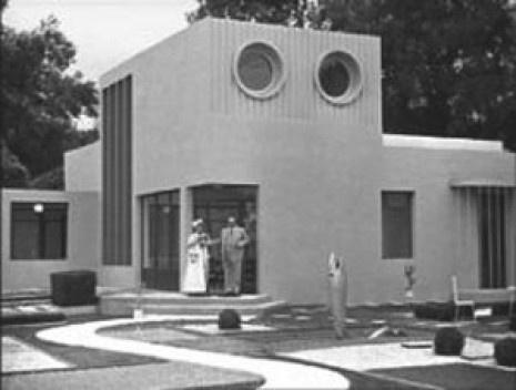 """Imagem A máquina de habitar de Jacques Tati: a casa positivista, imagem do filme """"Mon Oncle"""". Capítulo 3, página 63"""