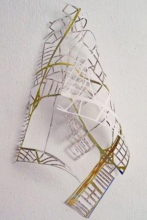 Cidade cansada. Mapa do México DF com intervenção, 40 x 20 cm. Jorge Macchi, 2004 [website do artista]