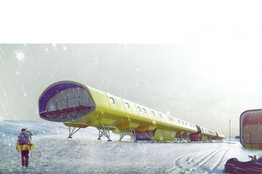 Estação Antártica Comandante Ferraz, menção honrosa. Escritórios Biselli Katchborian, São Paulo Arquitetos e Nave Arquitetos
