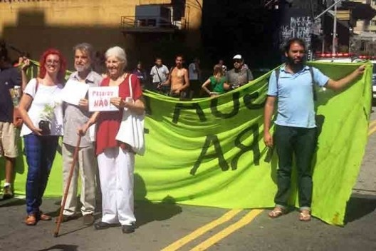 Manifestação pró Parque Augusta<br />Foto Vinicius Martins