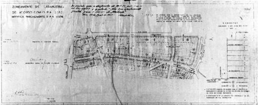 Planta de Zoneamento de Laranjeiras, Distrito Federal,1946