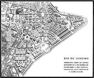 Projeto de remodelação sugerido por Agache, Plano Agache, 1930