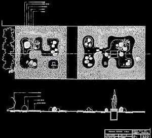 Detalhe dos Jardins terraço, casa Francisco Pignatari [Escritório Roberto Burle Marx]