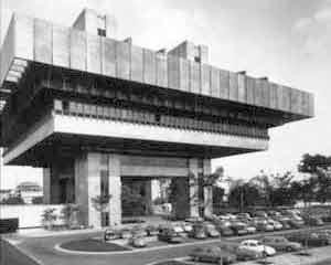Tribunal de Contas de São Paulo, 1971, arquitetos Croce, Aflalo & Gasperini. Fonte: CROCE, AFLALO & GASPERINI [Catálogo da Exposição na IV Bienal Internacional de Arquitetura, 1999, p.26]