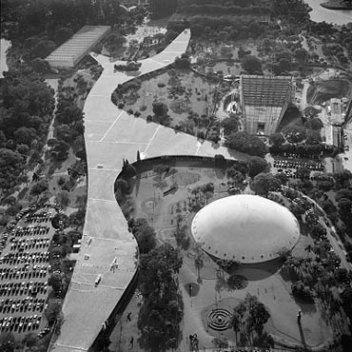Vista aérea do Parque do Ibirapuera, São Paulo<br />Foto Nelson Kon