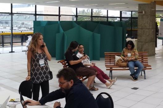 XIX Sigradi Florianópolis 2015, hall de encontro<br />Foto Regi Pupo