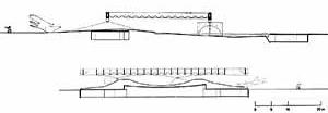 Pavilhão de Osaka, cortes longitudinal e transversal [ARTIGAS, Rosa. Paulo Mendes da Rocha. São Paulo, Cosac & Naify, 2000. p. 76-77]