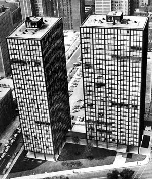 Photo 3 – Buildings on Lake Shore Drive, Chicago. Architect Mies van der Rohe