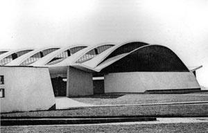Detalhe do Pavilhão dos Produtores da CEASA (1970) [COMAS, Carlos Eduardo [et.al.]. Arquiteturas Cisplatinas. Roman Fresnedo Siri e Eladio Die]