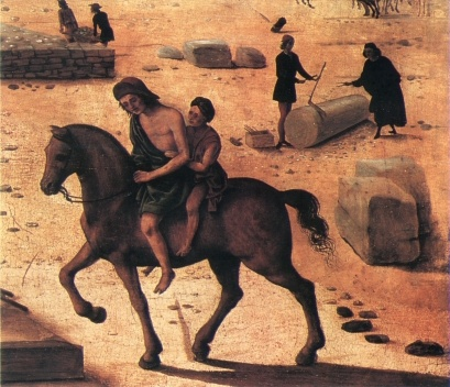 A construção de um palácio, detalhe, c. 1515-1520<br />Piero di Cosimo