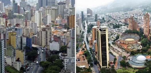 """À esquerda, São Paulo; à direita, Bogotá<br />Fotos Thomas Massin e Peter Lievand  [livro """"Conquistar a Rua! Compartilhar sem Dividir""""]"""