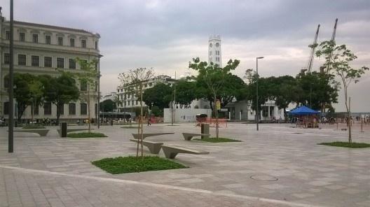 Nova Praça Mauá, vista da torre do Terminal Marítimo, Rio de Janeiro<br />Foto Masao Kamita