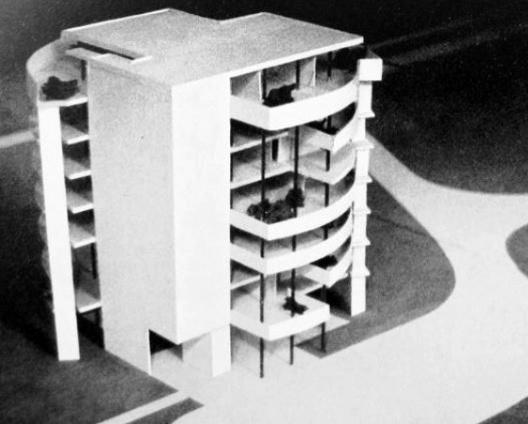 Embaixada da França, Chancelaria, maquete, Brasília, 1962-1964, arquiteto Le Corbusier<br />Imagem divulgação  [Fondation Le Corbusier]