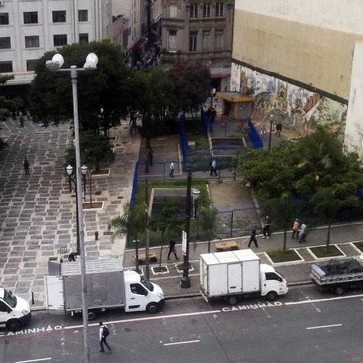Largo São Francisco, situação antes da intervenção urbana, São Paulo<br />Foto divulgação  [gestadourbanasp]