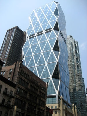 Torre Hearst, Nova York. Arquiteto Norman Foster<br />Foto Roberto Segre