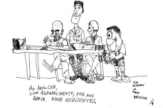 Equipe do projeto do Centro de Arte Corpo, Caricatura de Éolo Maia