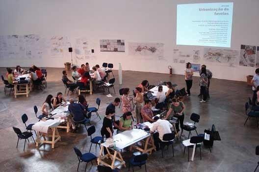 Espaço da Oficina.NonaBia – 9ª Bienal Internacional de Arquitetura de São Paulo. 2011<br />Foto Maria Augusta Justi Pisani