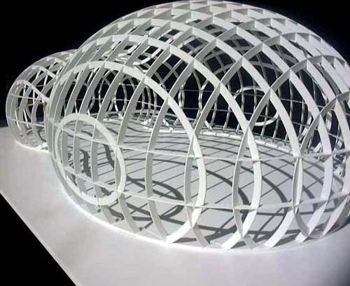 The Bubble. Modelo estrutural. Arquiteto Bernhard Franken