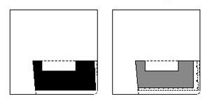 Sede da Viação Férrea do Rio Grande do Sul (primeira proposta) - implantação esquemática e planta do pavimento térreo