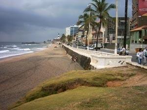 Praia do Farol da Barra atualmente - Salvador, BA<br />Foto do autor