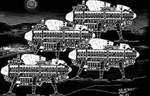 Wlaking-cities, Archigram.  [Archigram]