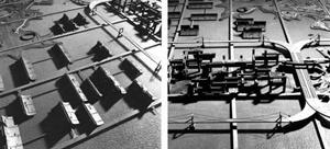 Projeto para Baía de Tóquio, arquiteto Kenzo Tange.  [Website Oficial Kenzo Tange]