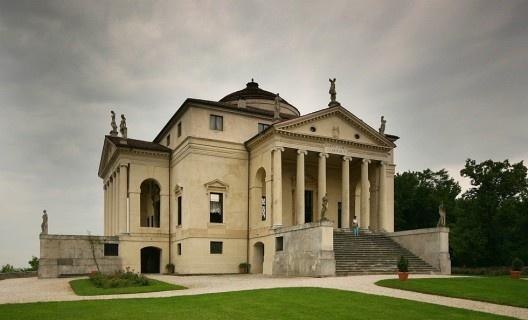 Side view of Villa Rotonda<br />Foto Stefan Bauer  [Wikimedia Commons]