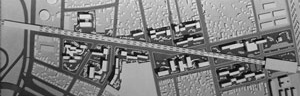 Maquete do projeto de reurbanização Bras Bresser