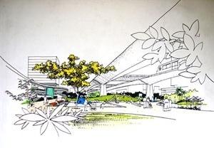 Perspectiva do projeto de reurbanização Bras Bresser